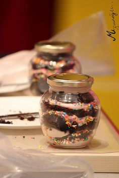 popcakes into bottle :)
