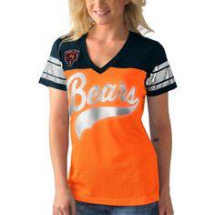 Women's Chicago Bears G-III 4Her by Carl Banks Orange Pass Rush T-Shirt