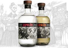 Espolon Tequila Packaging Illustrations by Steven Noble, via Behance