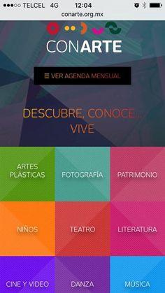 Descubre conoce... #ViveCONARTE  Visita nuestra página web y #ConoceMás de las actividades de las disciplinas artísticas.
