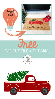 This free Christmas Truck SVG cut file is compatible with the Cricut, Silhouette… – DIY Crafts Christmas Truck, Christmas Diy, Xmas, How To Use Cricut, Cricut Tutorials, Cricut Ideas, Wine Bottle Crafts, Christmas Projects, Fun Crafts