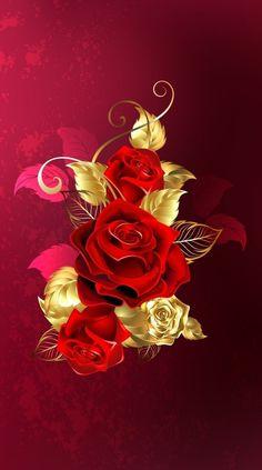By Artist Unknown. Mandala Wallpaper, Love Wallpaper Backgrounds, Flowery Wallpaper, Rose Wallpaper, Apple Wallpaper, Flower Backgrounds, Beautiful Flowers Wallpapers, Beautiful Rose Flowers, Pretty Wallpapers
