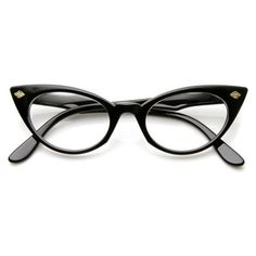 Womens 1960's Fashion Leaf Accent Cat Eye Clear Lens Glasses 9314 ❤ liked on Polyvore featuring accessories, eyewear, sunglasses, clear lens glasses, lens glasses, cat eye glasses, cateye sunglasses and clear glasses