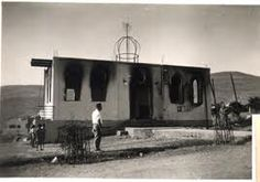 A Tiberias Synagogue after an attack by Muslims in 1938. During 1936-1939 attacks by Muslims against Jews escalated. In Tiberias in 1938, an organized group of Muslims massacred 21 Jews, including 3 women and 10 children (aged from 1 year to 12 years). The Muslims stabbed, shot and burned their Jewish victims. The Muslims pre planned the massacre by cutting telephone lines and coordinating the timing of the attack with lookouts and signals.