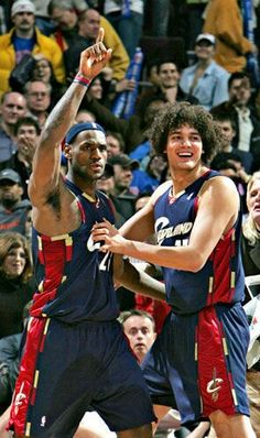 Lebron James and Anderson Varejao