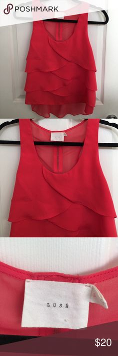 So cute! Pink ish hot coral color So cute and in perfect condition ! Tagged for views Free People Tops Tank Tops