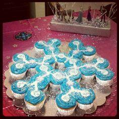 Schneeflocke aus Muffins