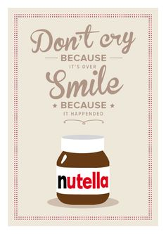 Shop for art on Etsy, the place to express your creativity through the buying and selling of handmade and vintage goods. Nutella Muffins, Nutella Cupcakes, Nutella Crepes, Nutella Cheesecake, Nutella Cookies, Nutella Jar, Nutella Quotes, Nutella Rolls, 3 Ingredient Nutella Brownies