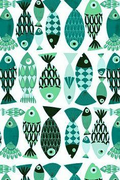 Happy fish pattern