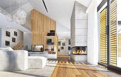 Projekt domu Wyjątkowy 2 201,09 m2 - koszt budowy - EXTRADOM Architectural House Plans, Planer, Bungalow, Building A House, Architecture Design, Home Goods, Contemporary, Living Room, Outdoor Decor