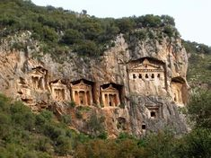 Lycian rock-cut tombs of Kaunos, Turkey Oh The Places You'll Go, Places Ive Been, Places To Visit, Wonderful Places, Beautiful Places, Amazing Places, Corfu Town, Marmaris, Eastern Europe