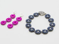 Pretty Posies Beaded Bracelet FREE Project by Jill Wiseman featured in Bead-Patterns.com Newsletter!