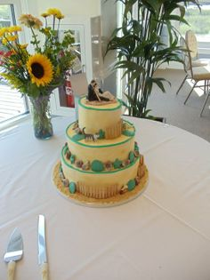 Beaufort Weddings Beach Themed Wedding Cake From A Held At Traditions On Mcrd Parris