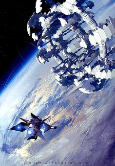 Hotel LaGrange Resort orbiting the Earth.  #SpaceHotel  #SpaceResort