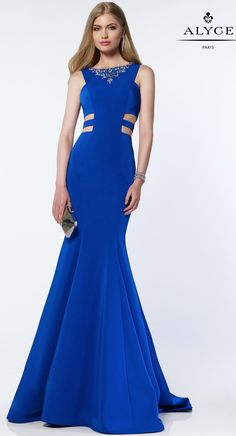 One of a kind chic by Alyce 8006 💕-SHOP HERE: https://www.prom-avenue.com/embellished-halter-top-prom-dress/ #prom #promavenue #bluepromdress #chicpromdress #oneofakinddress #promshop #partydress