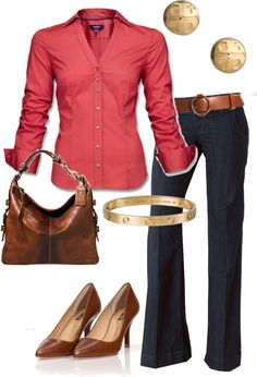 """Friday Jeans Day"" by vintagesparkles78 ❤ liked on Polyvore"