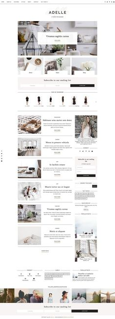 Responsive Blogger Template - Adelle by Georgia Lou Studios on @creativemarket