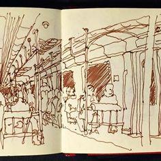 back home in Gral. Mitre Railway #BuenosAires #sketch #urbansketchers #urbansketcher #usk #drawingonlocaltion #croquis #CroquiserosUrbanos #dibujo #drawing #illustration #sketchbook #locationDrawing #lineDrawing #bestsketch #SketchMuseum  #sketchcollector #kaweco