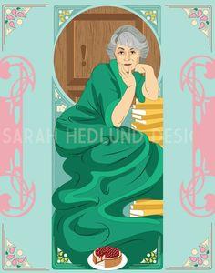 The Golden Girls Dorothy by SarahHedlundDesign on Etsy Arthur Meme, Bea Arthur, Golden Girls, Olaf Pictures, Dorothy Zbornak, Golden Birthday Parties, Funny Caricatures, La Girl, Girl Themes