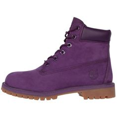 Timberland Kids Classic 6 Inch Purple (170 CAD) ❤ liked on Polyvore featuring shoes