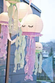 Emilia& First Birthday - a mermaid party :) - Geburtstag - Mermaid Birthday, Unicorn Birthday Parties, Birthday Crafts, Diy For Kids, Crafts For Kids, Preschool Crafts, Fiesta Baby Shower, Fairy Jars, Diy Crafts To Do
