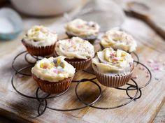 Cupcakes con cobertura de queso