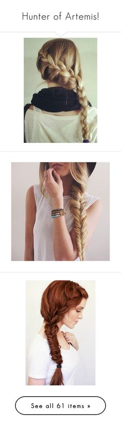 """""""Hunter of Artemis!"""" by enchantedarticgem ❤ liked on Polyvore featuring accessories, hair accessories, hair, hairstyles, hair styles, people, cabelos, beauty products, haircare and hair styling tools"""