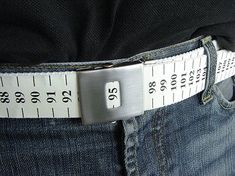 measuring tape belt, this is one way to remind yourself :)