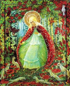 Madonna of the Mushrooms,  Kwiatkowska  Image from   http://campus.udayton.edu