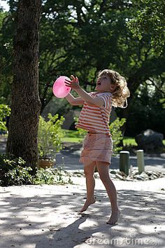 Child and Water Balloon