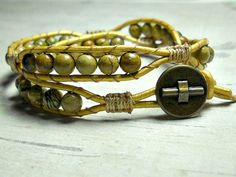 Bead Double Wrap Bracelet Leather Wrap by BeadWorkBySmileyKit