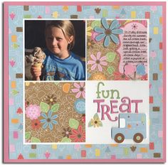 Fun Treat made with Doodlebug paper and stickers