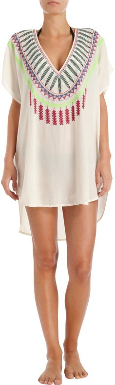 Mara Hoffman Embroidered Tunic Cover-Up