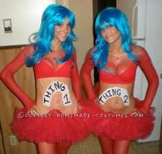 Coolest Sexy Thing 1 and Thing 2 Costumes... This website is the Pinterest of costumes
