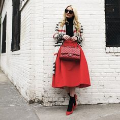 Women  in red style!