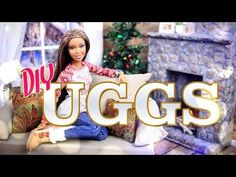 DIY - How to Make: Doll UGGS Boots - Winter - Holiday - Craft - 4K - YouTube