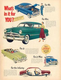 What's in it for you?, 1950 Ford