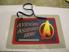Avengers Party Door Sign
