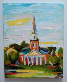 SOLD - wait chapel 16x20 acrylic on canvas