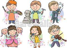 """Professions kids set 2"" - Classroom decor posters and prints available at Barewalls.com"