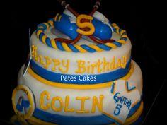 St. Louis Blues hockey cake- Turning 5!