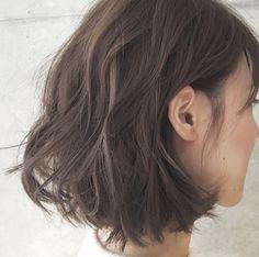Sayaka Digital Perm Short Hair, Medium Hair Styles, Short Hair Styles, Hair Medium, Hair Color Asian, Middle Hair, Hair Arrange, Fresh Hair, My Hairstyle