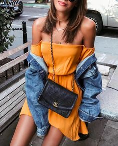 Orange Off Shoulder Dress Orange Outfits, Summer Outfits, Cute Outfits, Glamour, Fashion Beauty, Womens Fashion, Look Cool, Looking For Women, Cuba