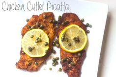 Chicken Cutlet Piccata   Tasty Kitchen: A Happy Recipe Community! Chicken Cutlet Recipes, Breaded Chicken Cutlets, Tasty Kitchen, Dinner Menu, Wine Recipes, A Food, Delish, Favorite Recipes, Yummy Food