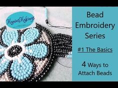 Bead Embroidery Series – # 1 The Basics- 4 Methods of attaching beads – BEAD Bead Embroidery Tutorial, Bead Embroidery Patterns, Bead Embroidery Jewelry, Beaded Jewelry Patterns, Beaded Embroidery, Bracelet Patterns, Native Beading Patterns, Weaving Patterns, Bead Patterns