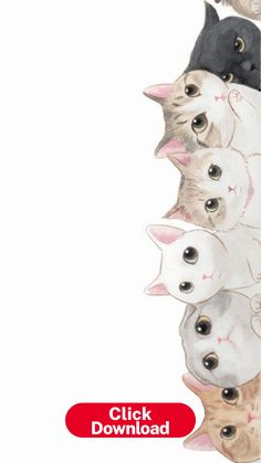 Cat Phone Wallpapers - Top Free Cat Phone Backgrounds ... Art And Illustration, Wallpaper Gatos, Cat Drawing, Drawing Ideas, Drawing Pictures, Crazy Cats, Wallpaper Backgrounds, Screen Wallpaper, Iphone Wallpapers