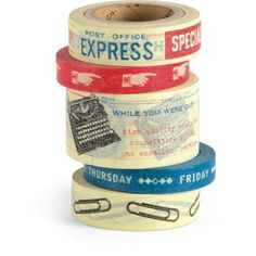 Cool vintage washi tape from Paper Source:  Cavallini Vintage Office Paper Tape