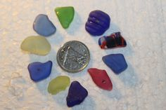 BEAUTIFUL BEACH GLASS Small center drilled by SWEPTASHORESEAGLASS, $8.50