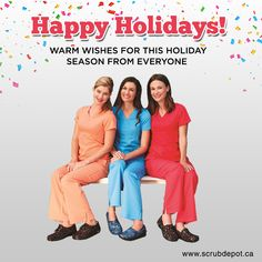Happy Holidays, Everyone! Wishing you every happiness this holiday season and throughout the coming year. Support Socks, Medical Uniforms, Elastic Waist Pants, Perfect Pink, Scrub Pants, Scrub Tops, Stretch Pants, Hospitals, V Neck Tops