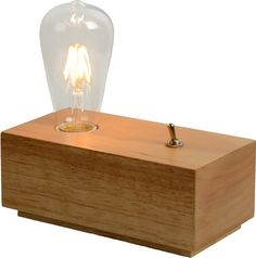 bol.com | Lucide Edison - Tafellamp - Hout